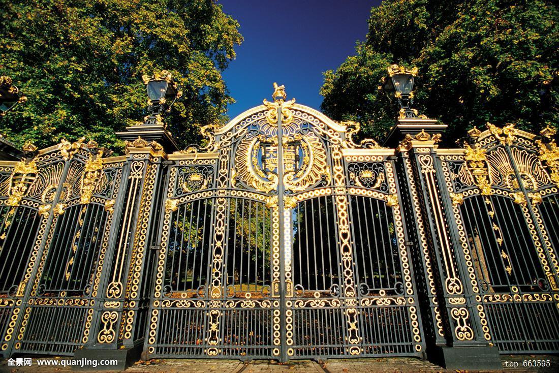 建筑,宫殿,皇宫,树,伦敦,门,车门,滑动门,白金汉宫,白金汉,植物,户外图片