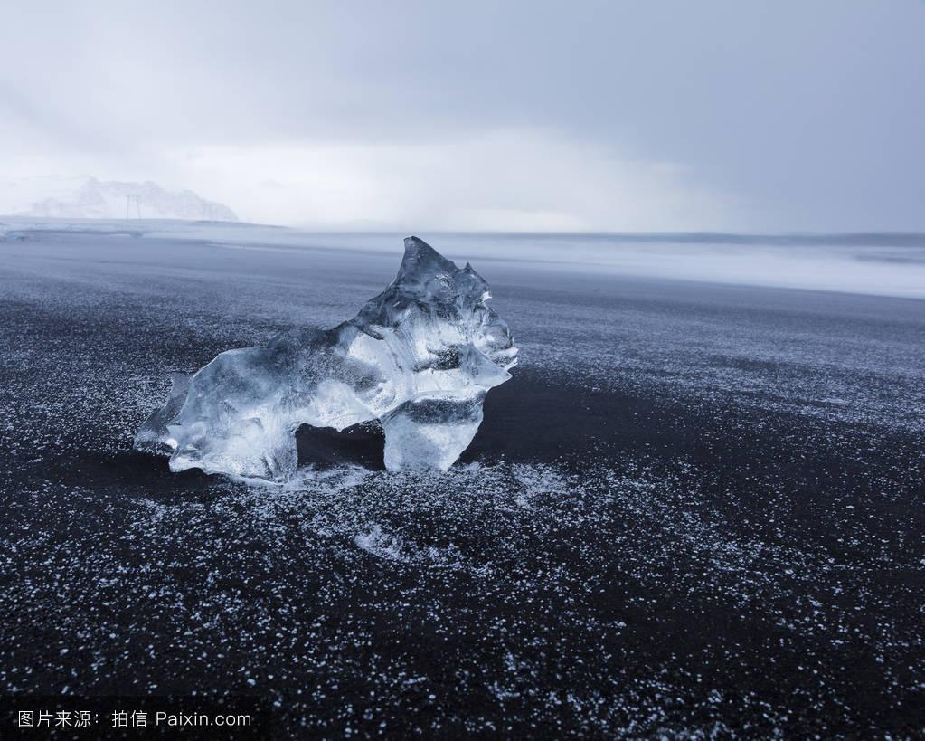 黑礹/&�b&9b�_景观,黑卵石,水平的,水盐,黑砂,北极的,自然,运动模糊,山,晶体,波涛