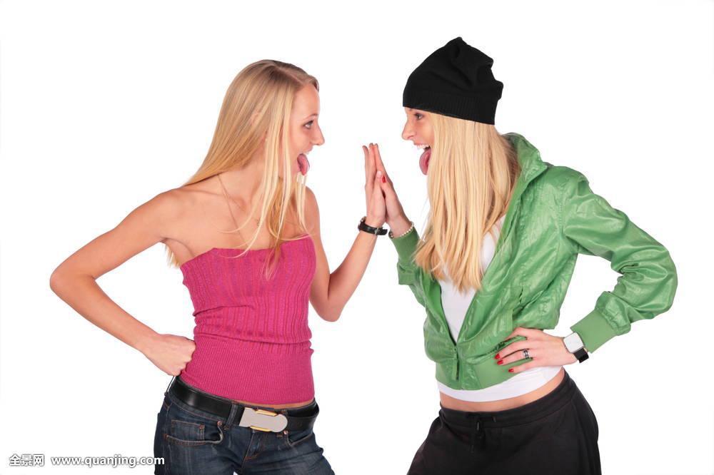 姐妹,风格,一起,上面,相似,两个,白色,女人,年轻,家庭,女性,双胞胎图片