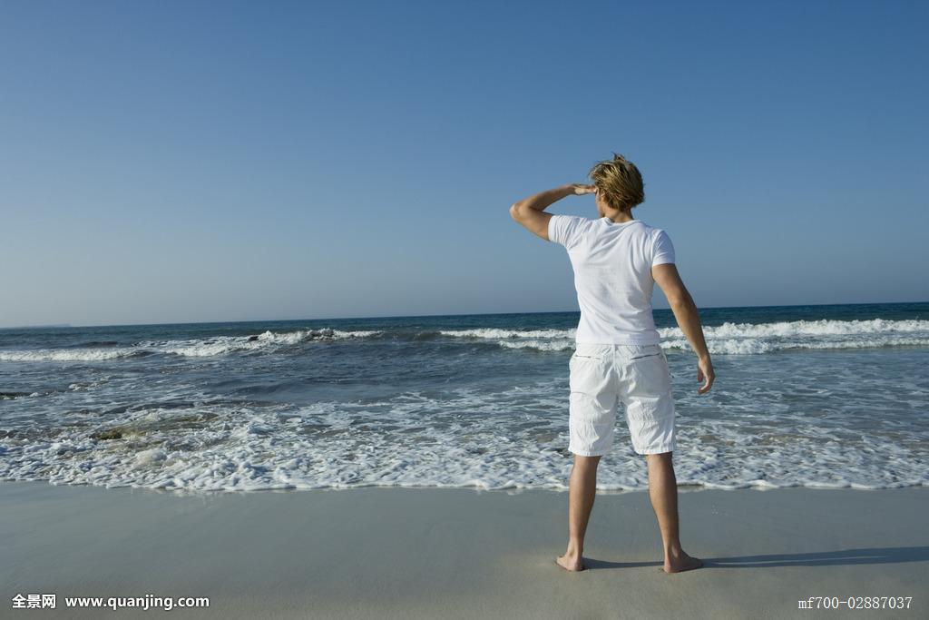 沙子,西班牙,男性,金发,男青年,观光,旅游胜地,男人,海岸,海滩,海边图片