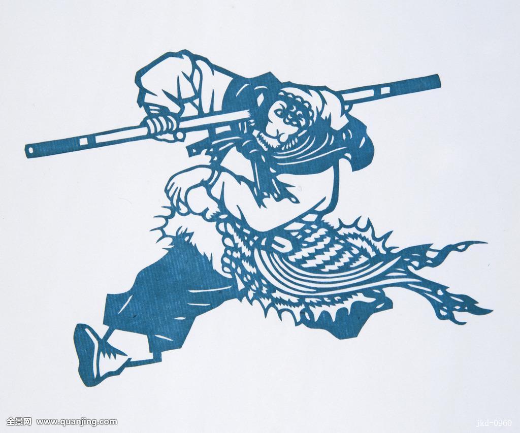 剪纸,孙悟空,横图,照片,彩色,特写,中国概念,中国元素,东方,中国图片