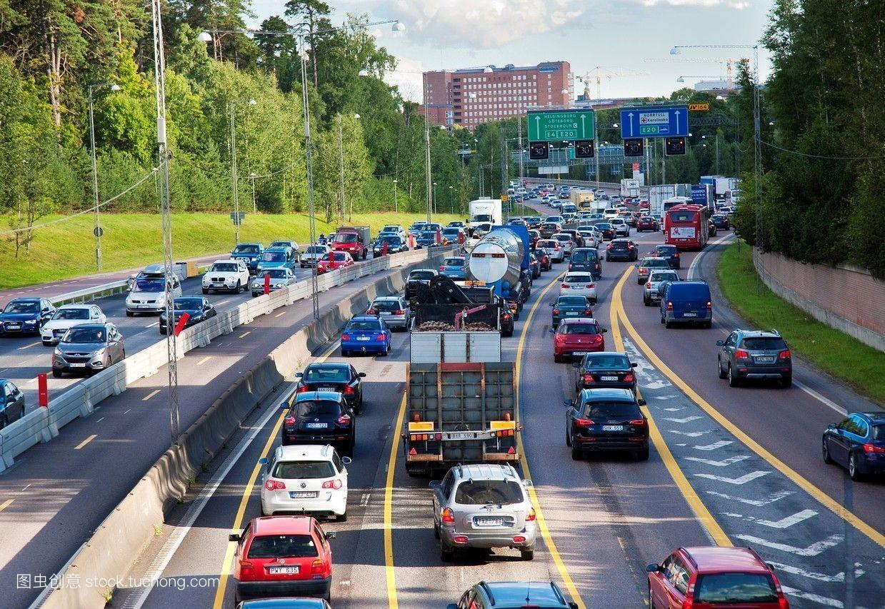 路�z*_机动车,欧洲,高速路,高速公路,干道,城市,汽车,交通工具,斯德哥尔摩