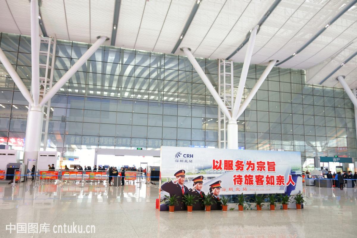 中国广东深圳北站候车厅图片
