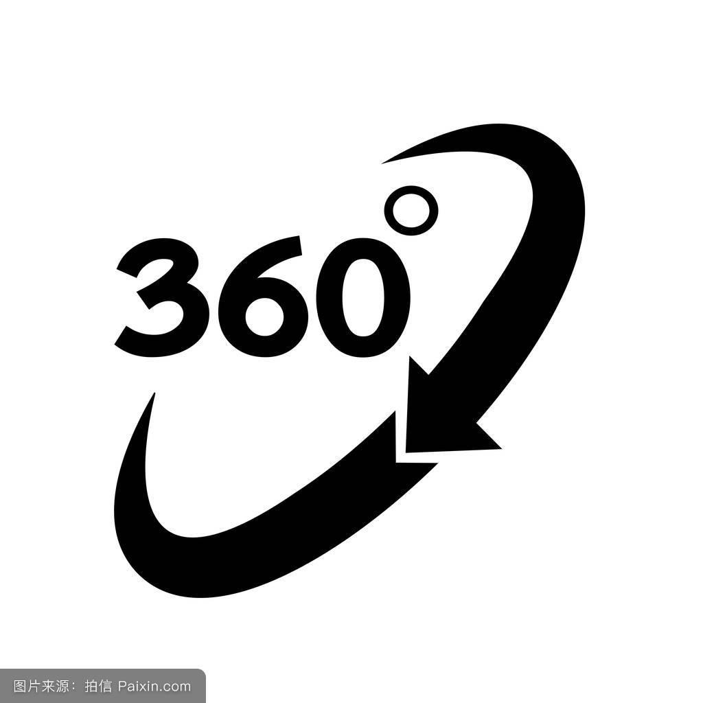 360度的图标图片