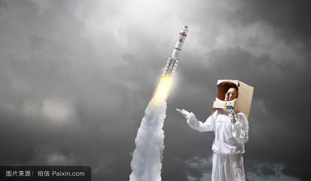 梦想探索太空.混合媒体图片