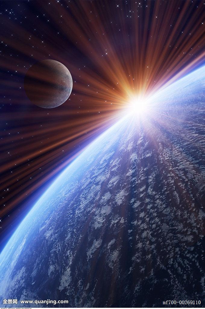 地球,太空,月亮,宇宙,探索,日落,日出,世界,天空,太阳,地平线,星星图片