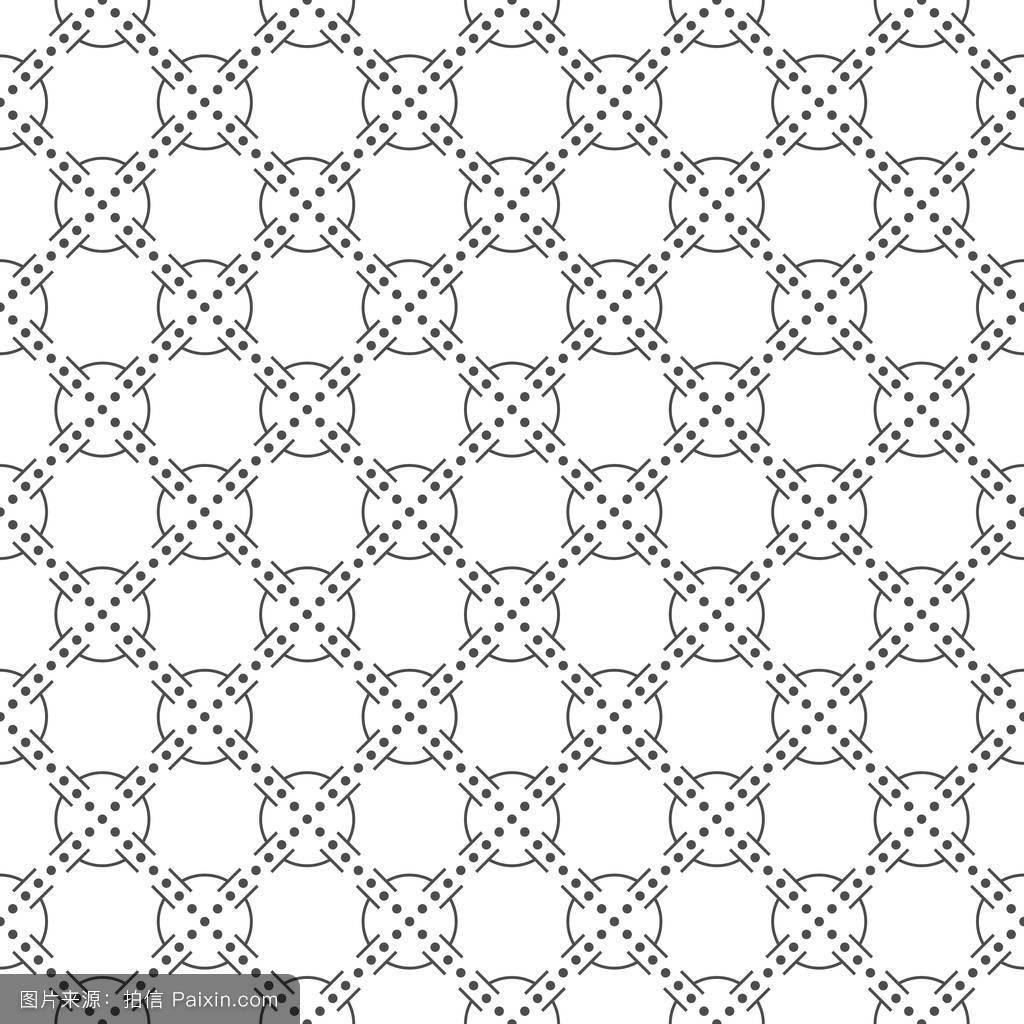 线条和圆点的无缝图案.几何壁纸.不寻常的图片