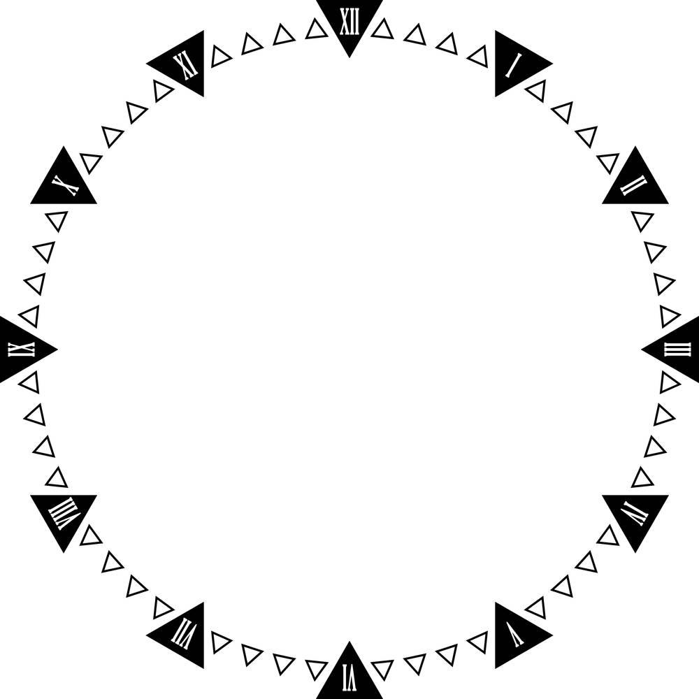 彩色三角形人头像标志图片图片