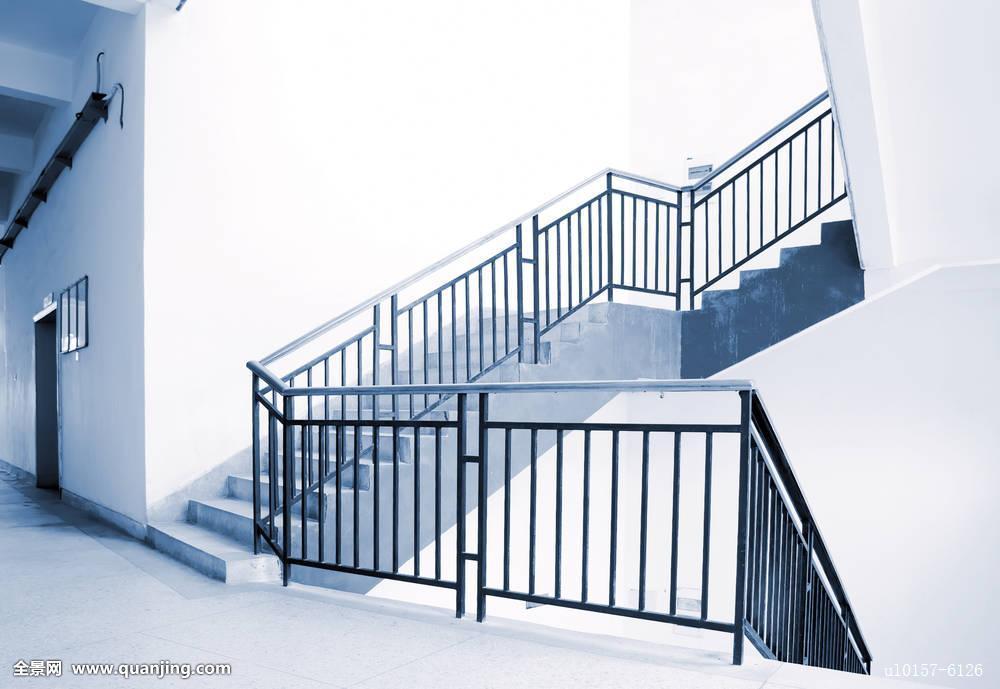 楼梯,现代,蓝色,天花板,金属,办公室,楼上,走廊,台阶图片