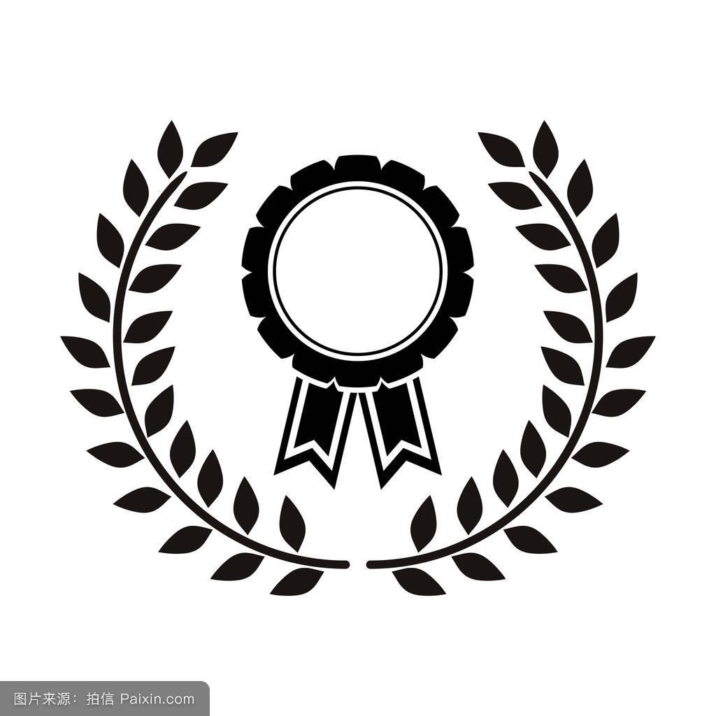 之间_橄榄枝之间的单色奖章