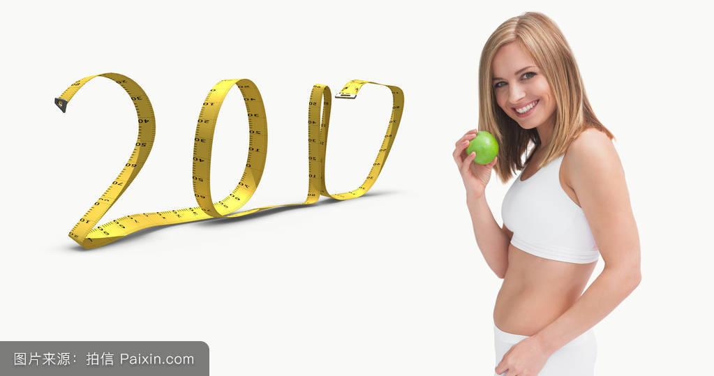 节食,绿色,计算机图形,金色的头发,肖像,自然的,美女,微笑,仪器的测量图片