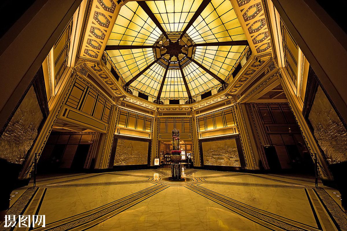 欧式风格的现代酒店大堂空间室内装修图片