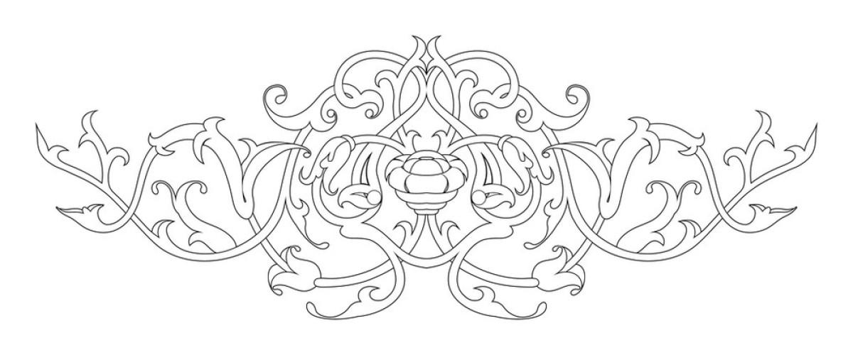 纹身线条图西方室内设计理念图片