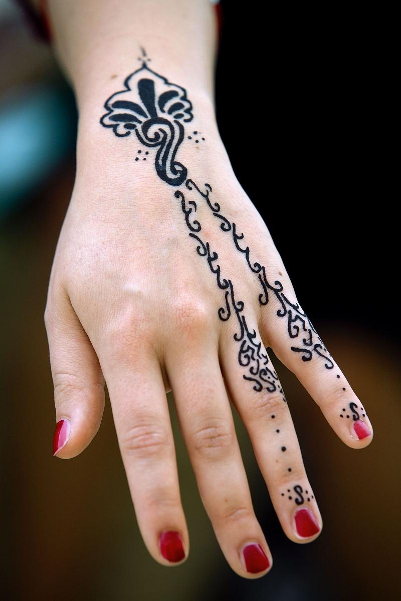 纹身手掌侧面图案分享展示图片
