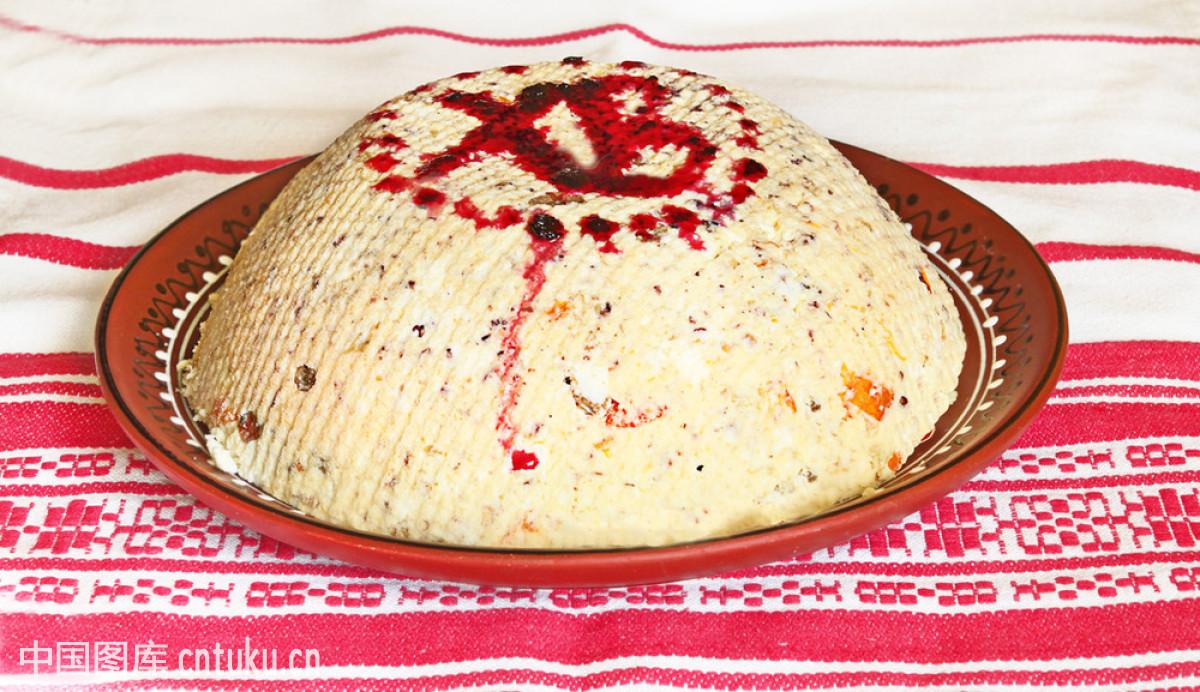 餐后甜点,传统,传统节日,刺绣,蛋糕,典礼,俄罗斯联邦,俄罗斯人,复活图片