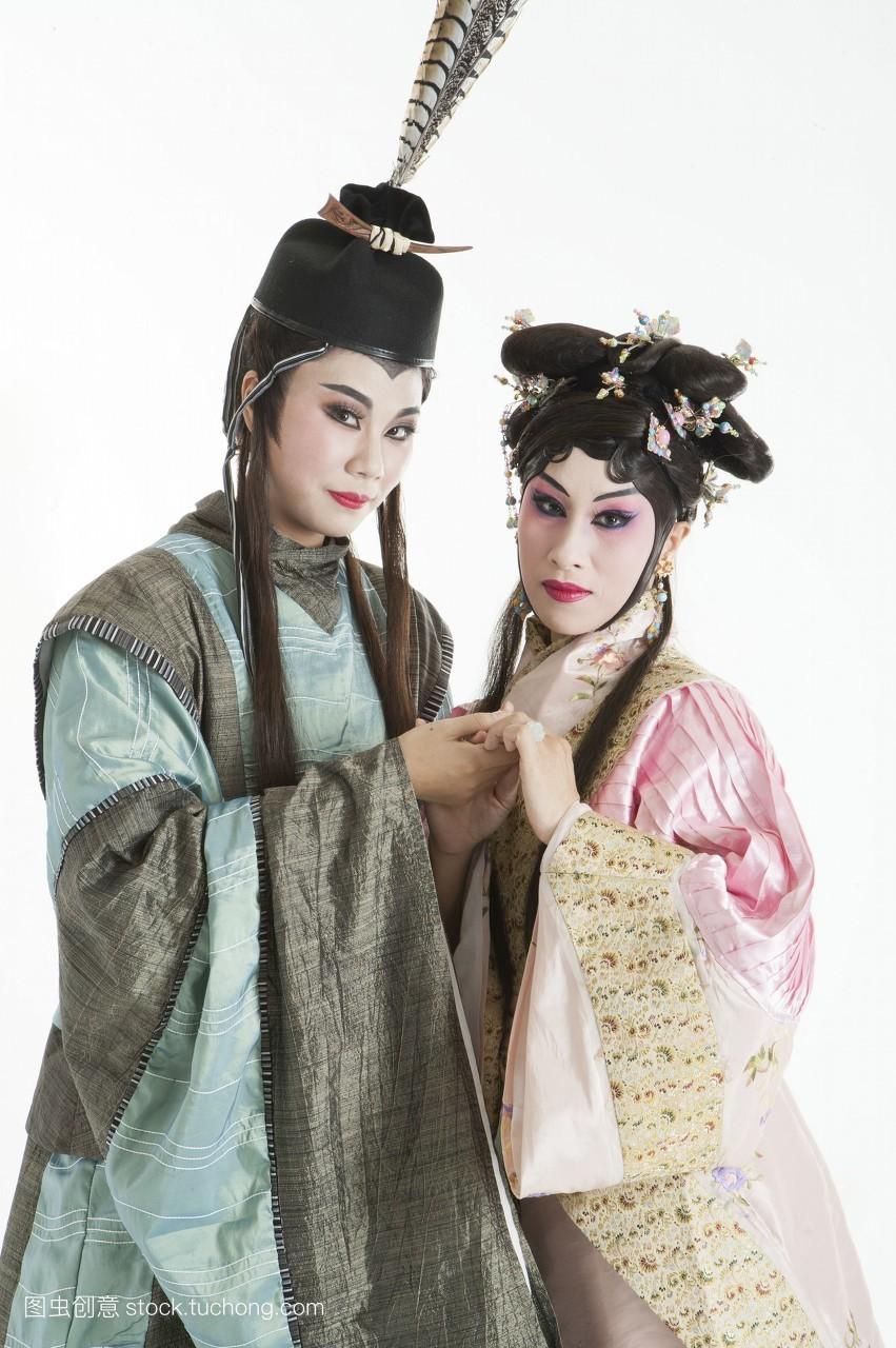 只有女人,女人,只有成人,头饰,戏服,假发,脸谱,中老年女人,古装,舞台图片