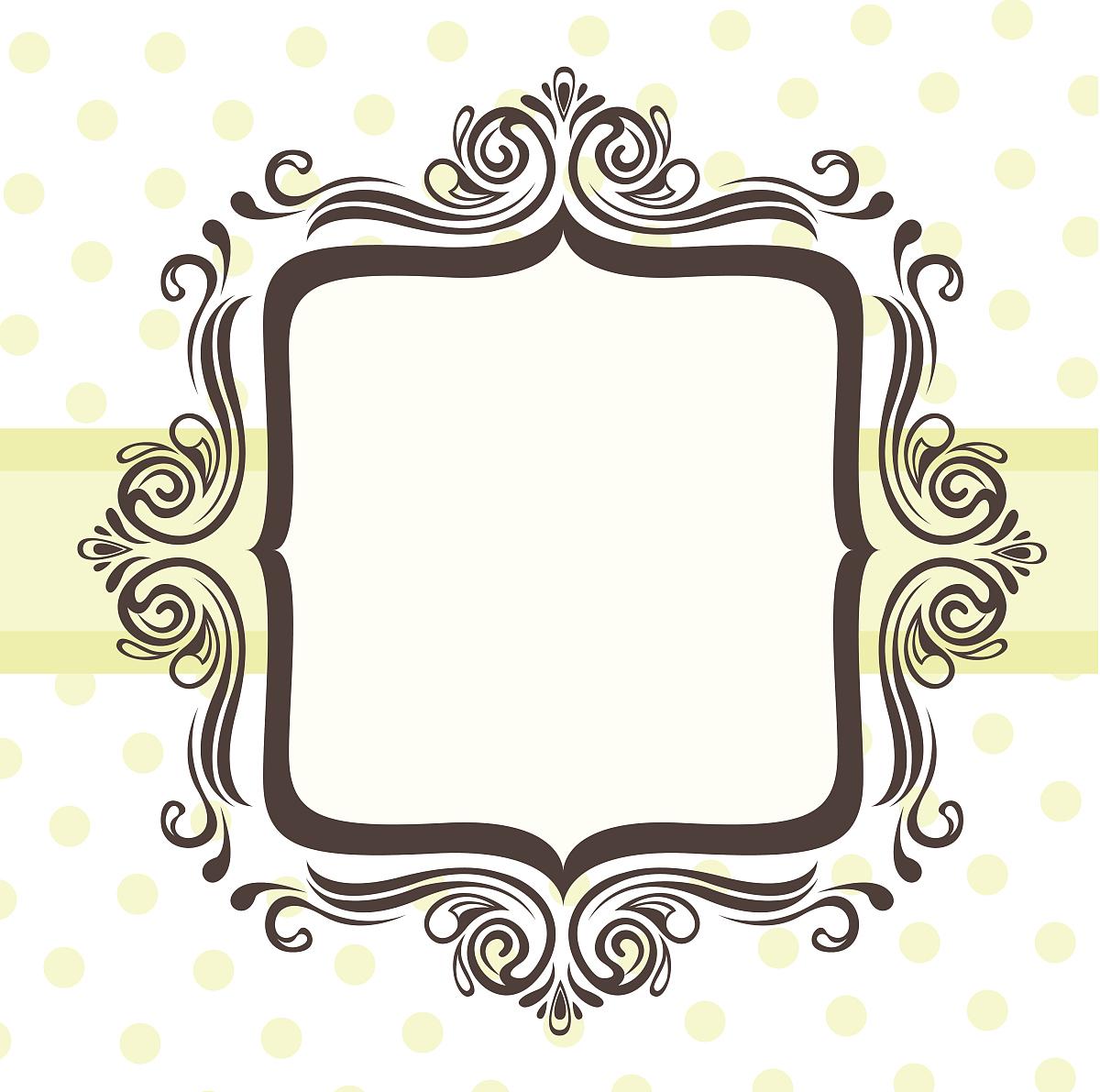 椭圆形边框设计绘画分享展示图片