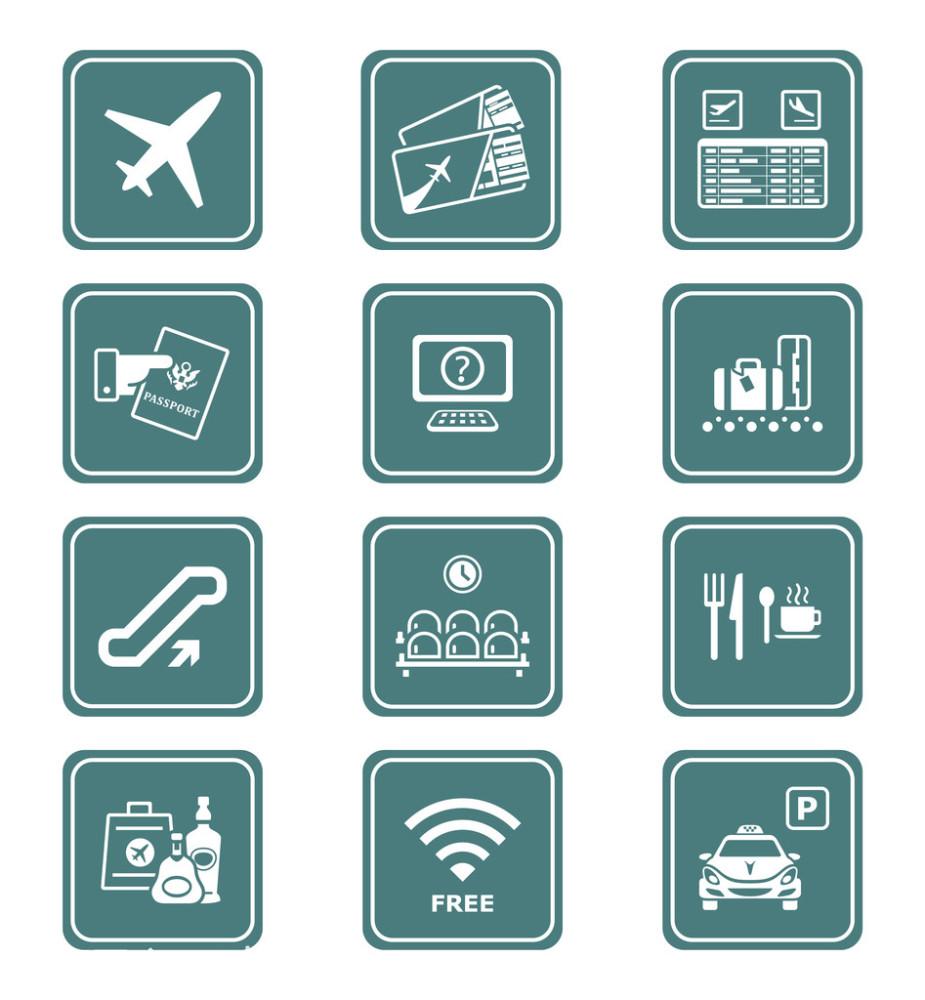 电动扶梯,度假,服务,公共设施,护照,回家,机场,检查,禁酒令,警告标识图片