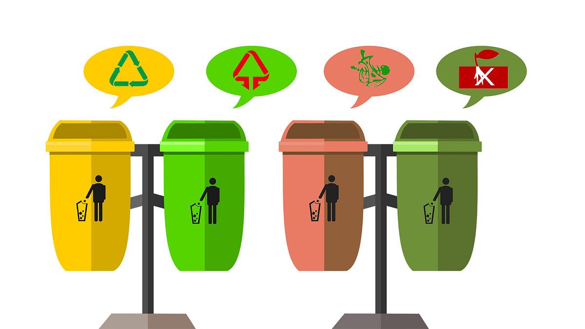 垃圾桶,垃圾箱,回收,分类,污染,环保,循环利用,厨房垃圾,标志图片