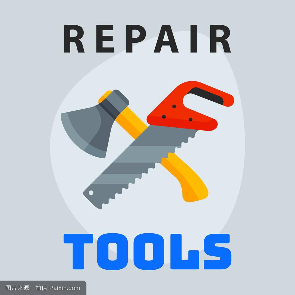 维修工具锤镘图标图形创意设计的标识元素和服务建设工作的业务维护设图片