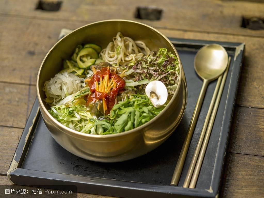 新鲜的,东方烹饪,亚洲美食,东方的,复制空间,在餐厅,沙拉,饮食,素菜图片