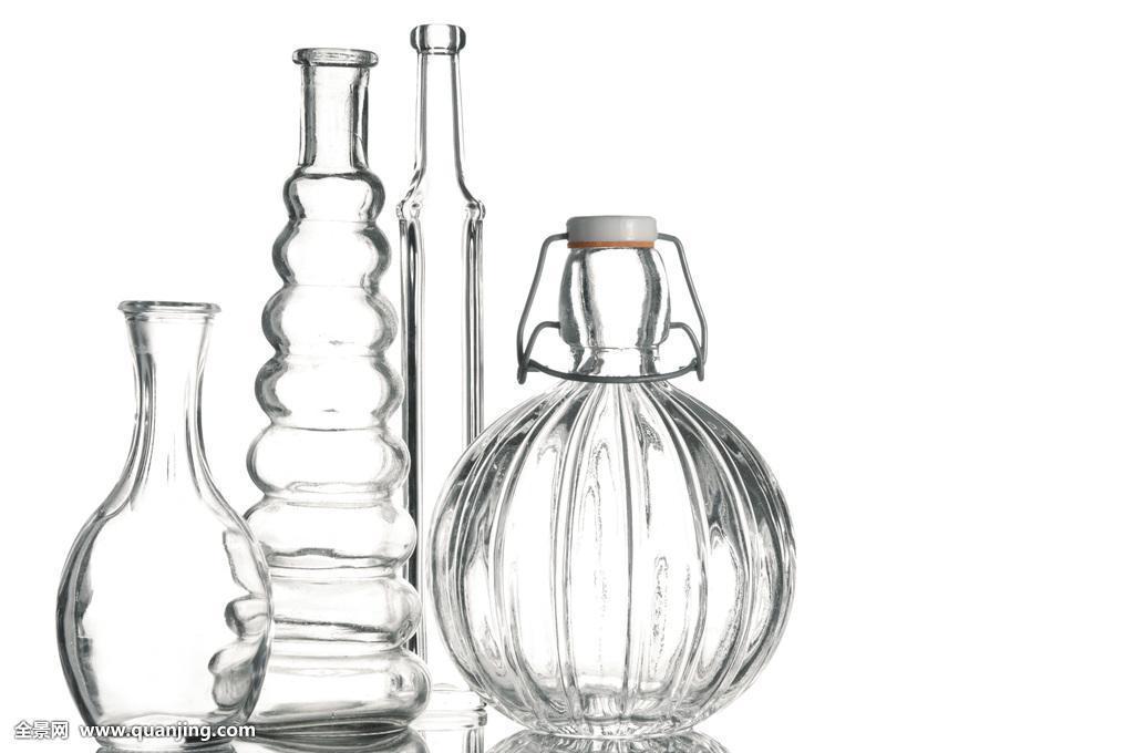 瓶子,差别,空,玻璃,透明,多样,花瓶,概念,纯,简单,抠像,无人,静物,棚图片