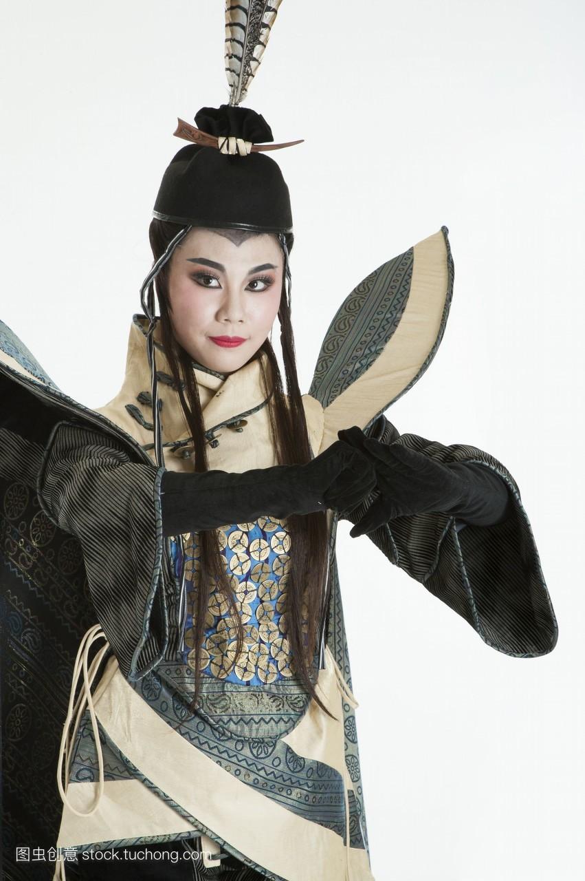 直图,真人,影像,数字,棚内拍摄,彩图,中国,亚洲,只有成人,古装,舞台服图片