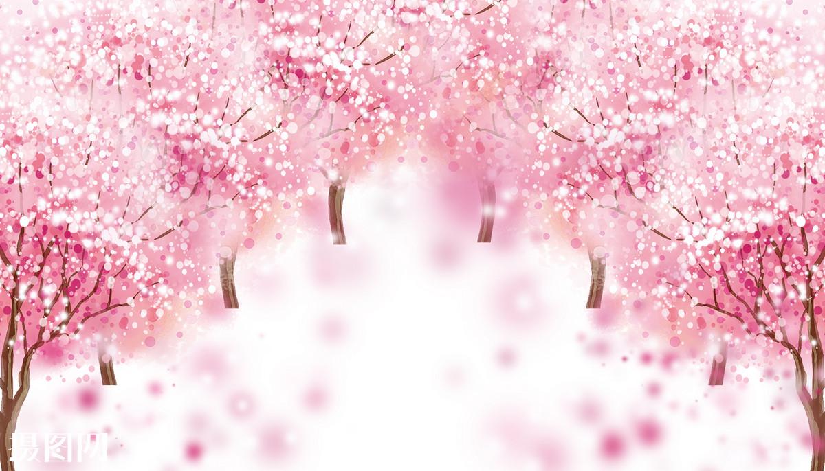 古风手绘桃花唯美壁纸-古风桃花唯美壁纸_桃花图片大全唯美壁纸_古风
