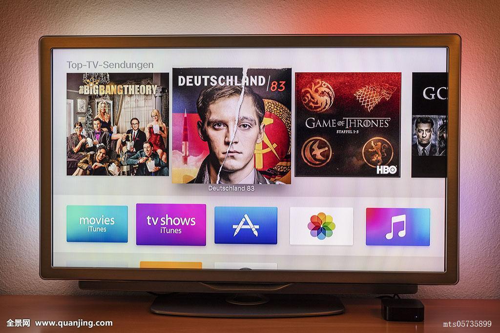 苹果,电视,独立日,液晶显示屏,上面图片