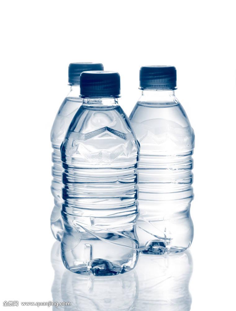 矿泉水,瓶子,反射图片