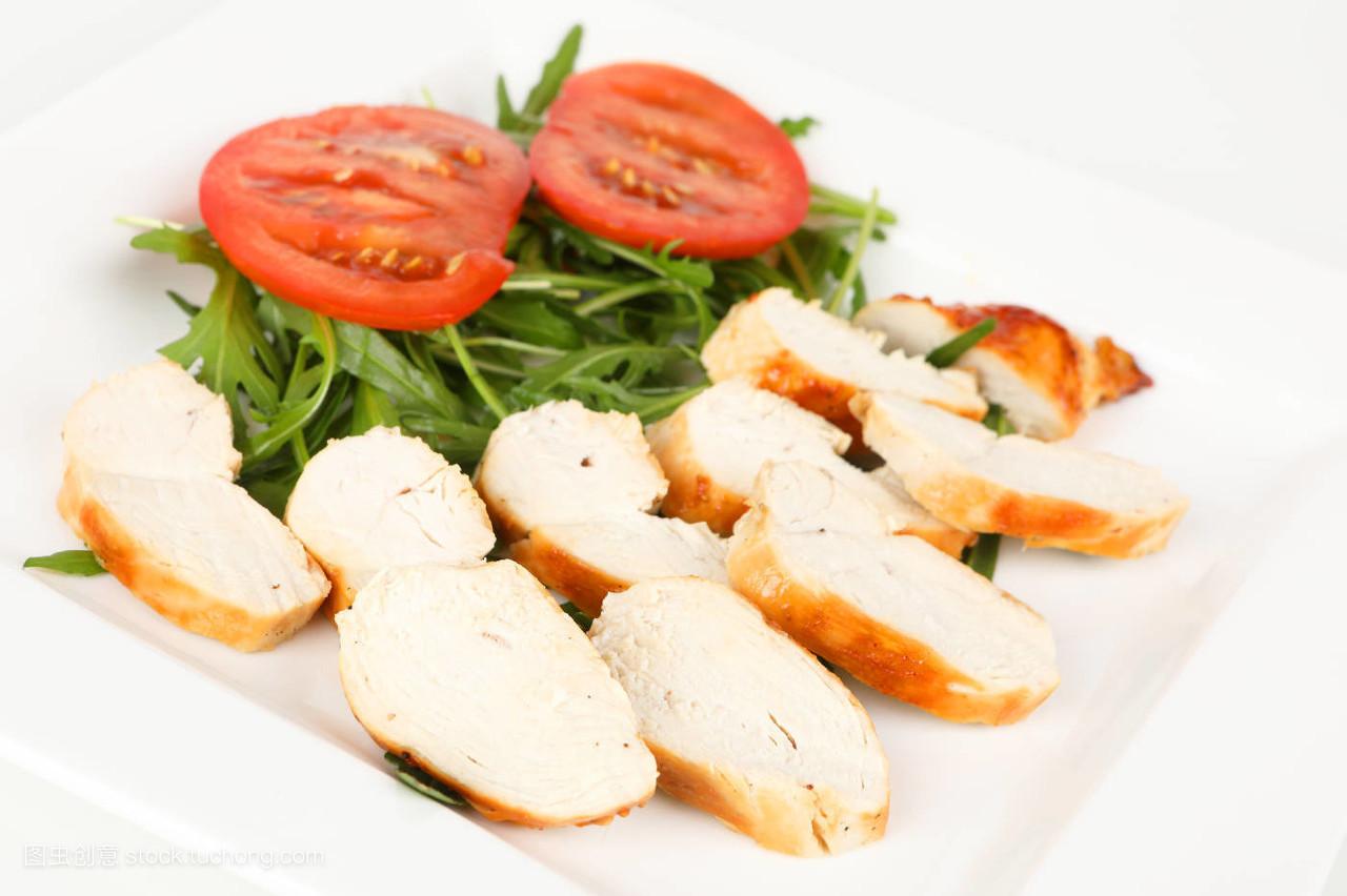食品�zl�9��9�+_食品,盘子,餐,生机,至关重要,鸡,片状,小吃,番茄,营养,沙拉,健康