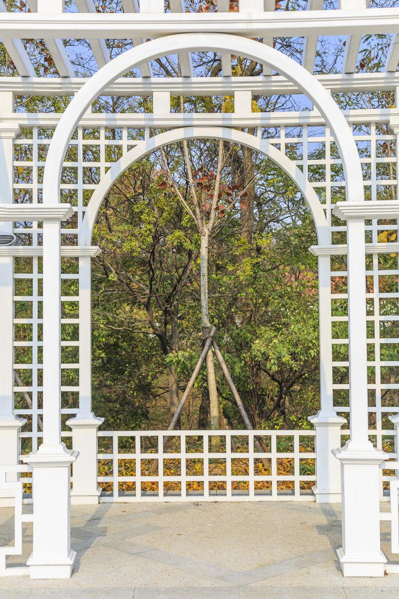 花廊,廊架,白色花廊,花架,亭子,欧式,园林,景观,建筑图片