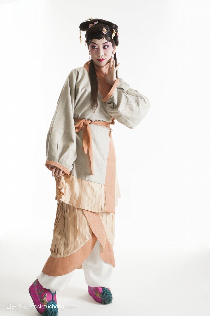 假发,只有女人,一个人,女人,头饰,脸谱,古装,只有成人,艺术文化,舞台图片
