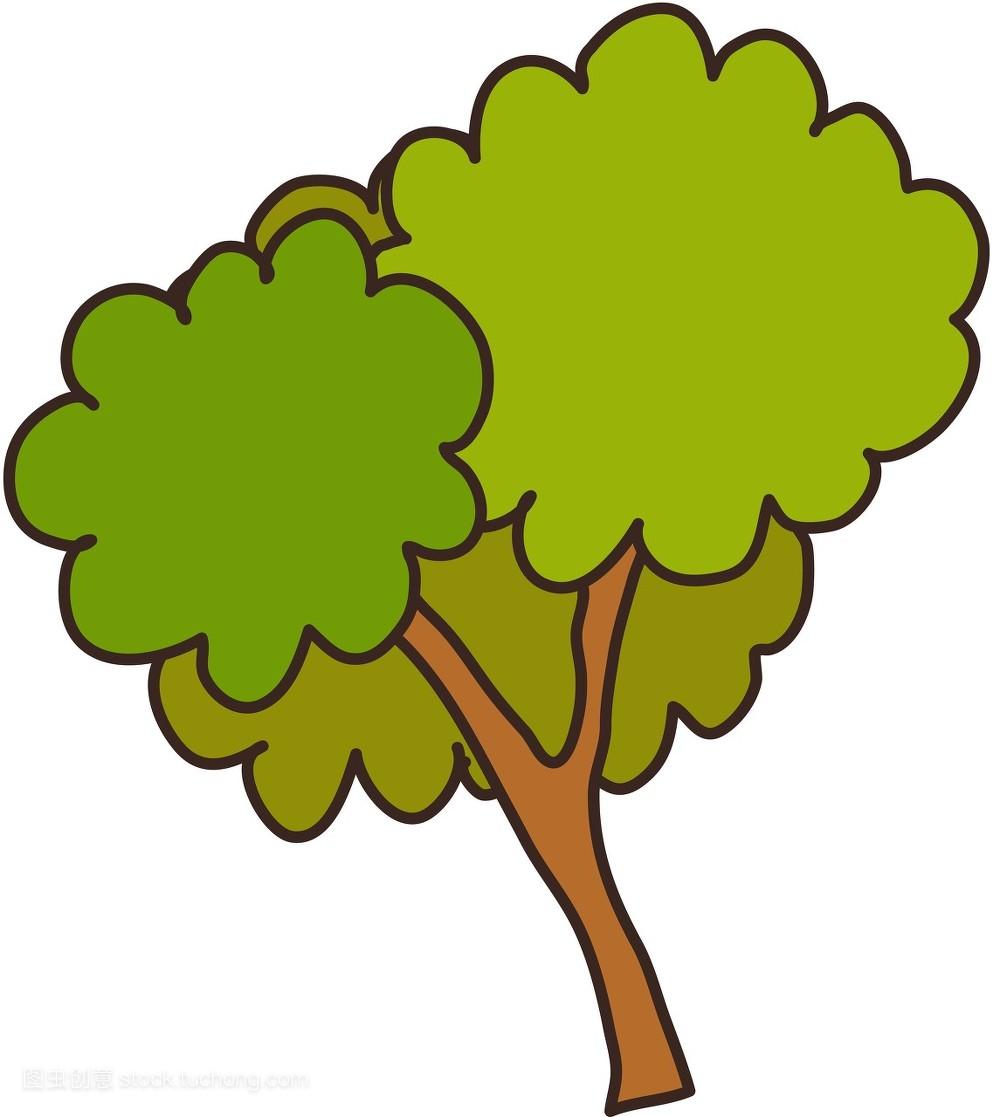 图标,树,绘本,植物,剪贴画,童话故事,矢量图,街道,插画图片