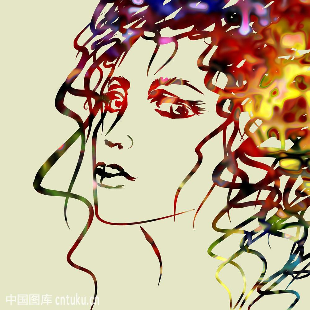 发式,法国街头艺术,复古,画笔,绘,美发师,梦想,墨水,人,时尚,图片图片图片