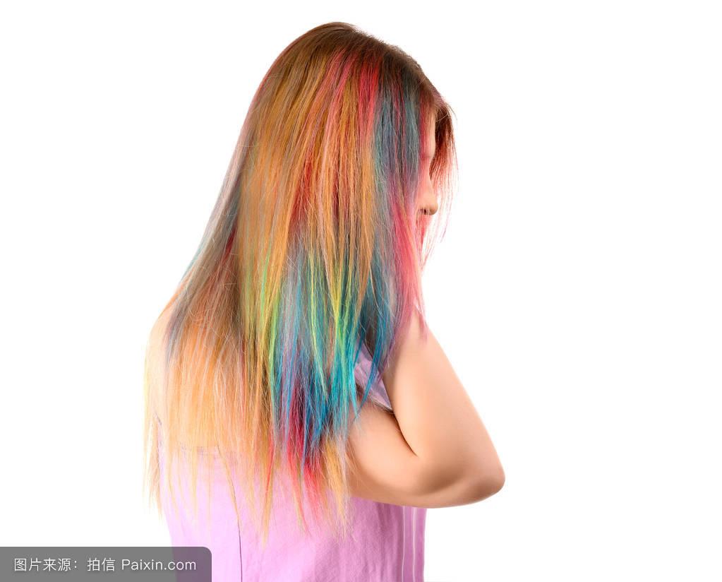 色彩,女孩,头发颜色的想法,风格,染发剂,背景,颜色,美女,染色,彩虹图片