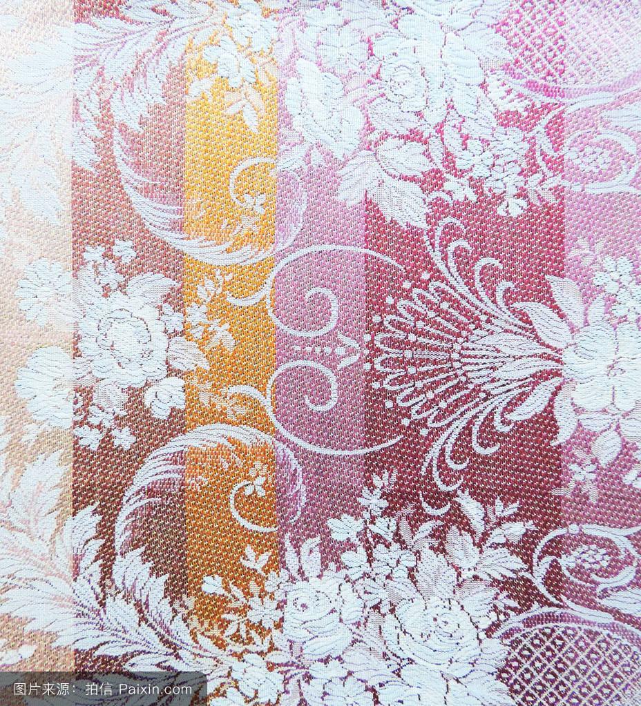 纹理,模式,brocate,二维形状,纺织品,水平的,宏,平的,花卉图案,纺织图片