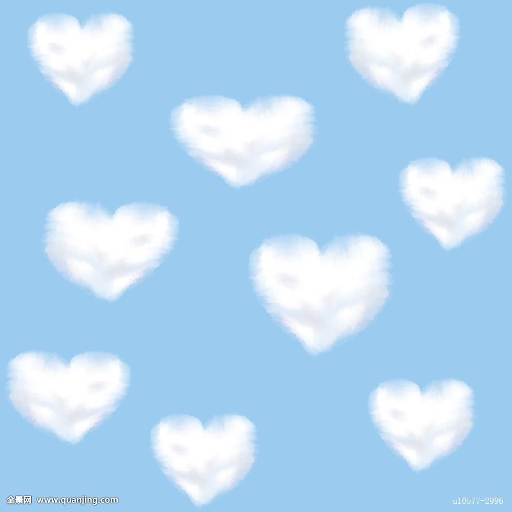 爱情,浪漫,云,形状,天空,蓝色,心形,白天,情人节,自然,背景,绒毛状图片