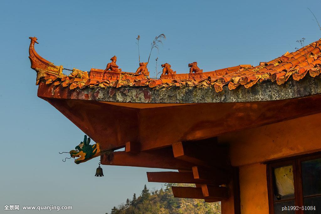 屋檐,琉璃瓦,龙,细腻,龙雕塑,寺庙,宫殿,兽雕塑,平面设计,素材图片