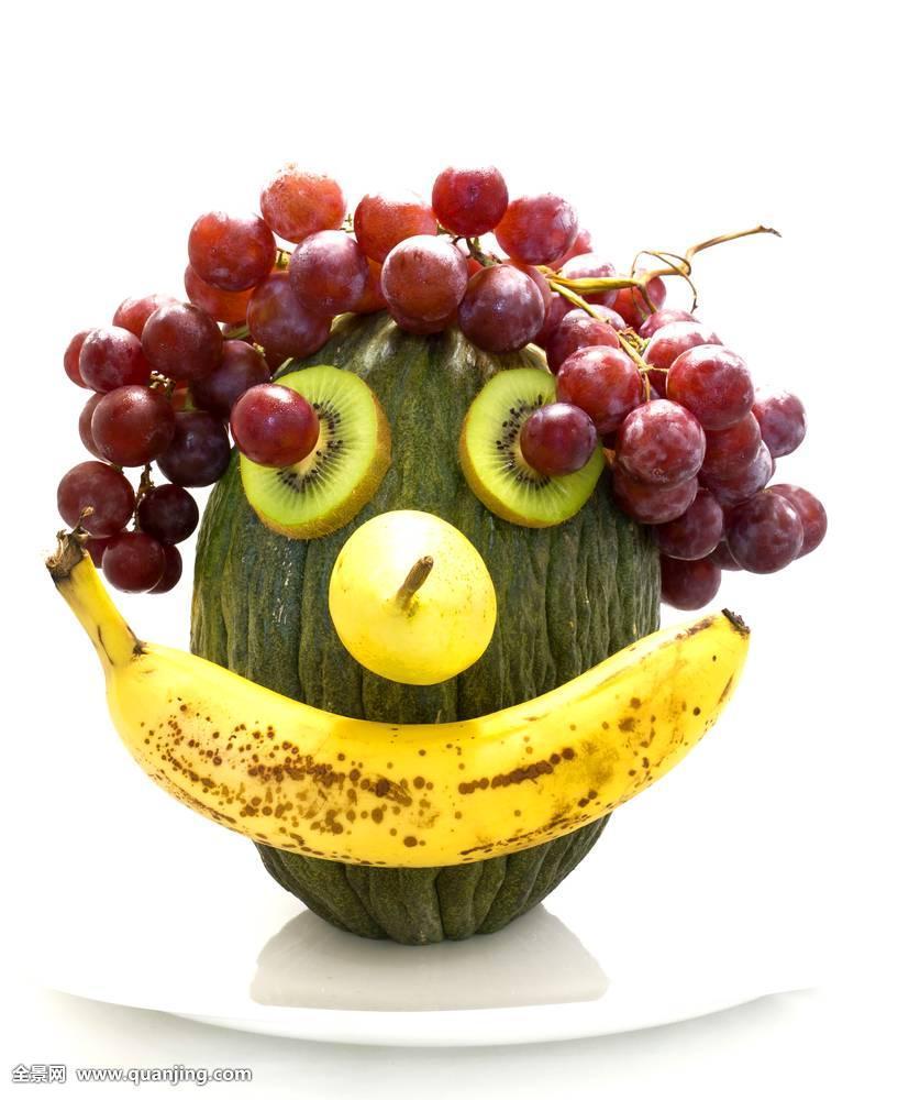 躺着吃水果表情分享展示图片图片