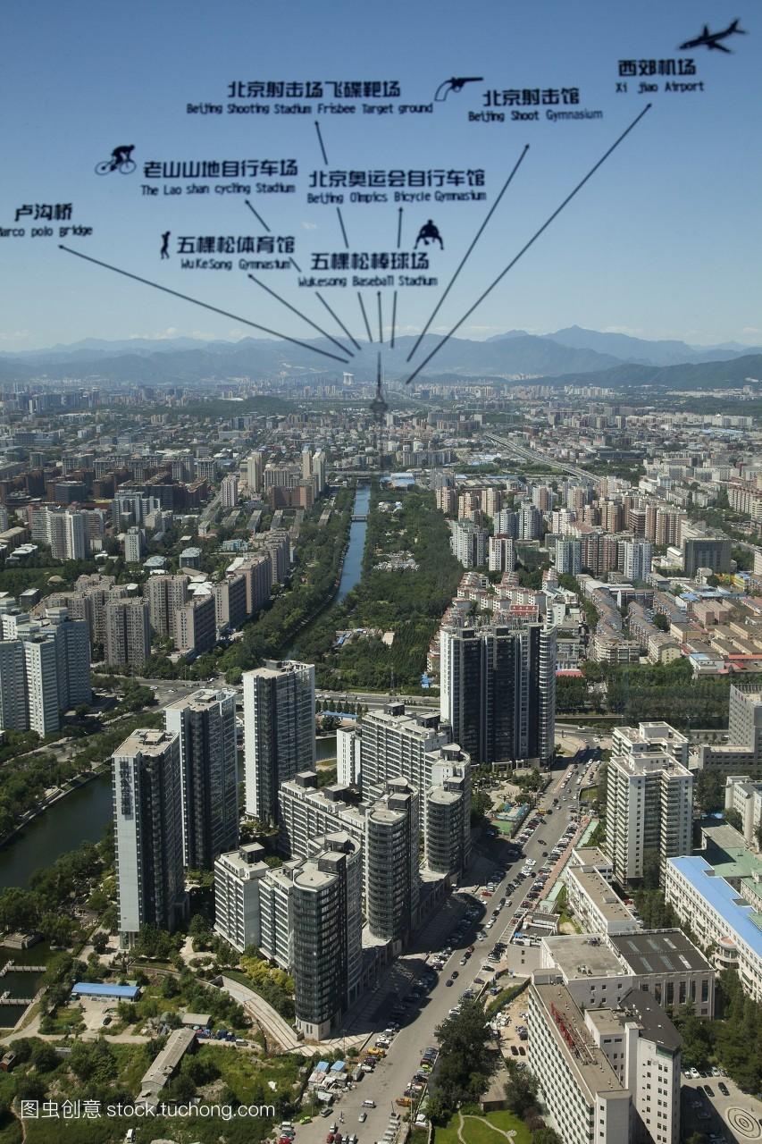 北京��b>��nK��x��kXz�_建筑,风光旅游,中国,北京,北京电视塔,远景,运河,全景,现代建筑,文明