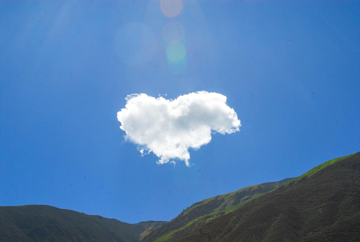 心形云朵图片