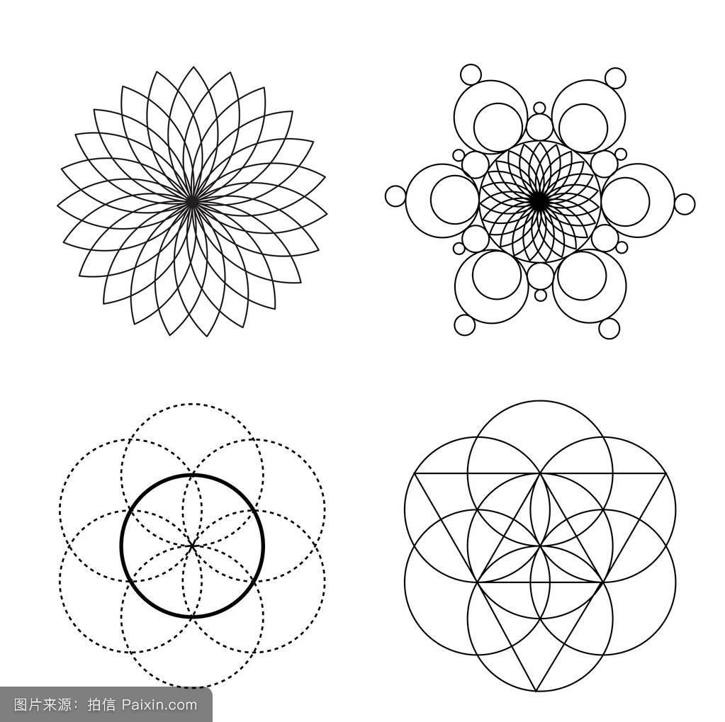 圆的交点。图片