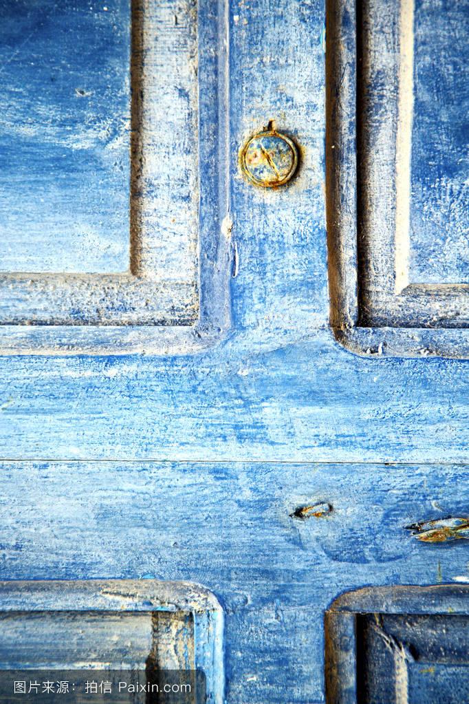 孔金属背景指甲钢旅行宫殿交叉盘子模糊旅游门安全门锁