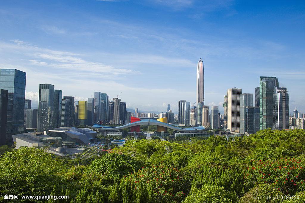 深圳植物商业区自然景观城市生活办公大楼建造市区社区住房