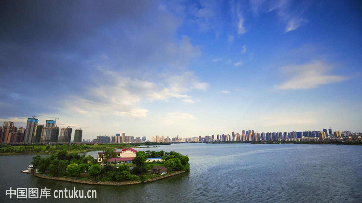 武汉湖景图片