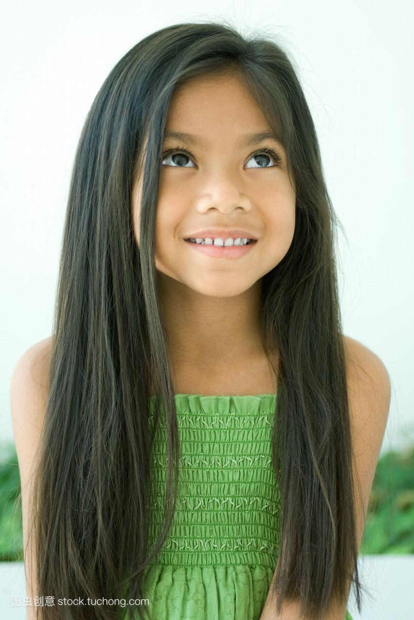 12岁小女孩长发扎辫子大全 给图片