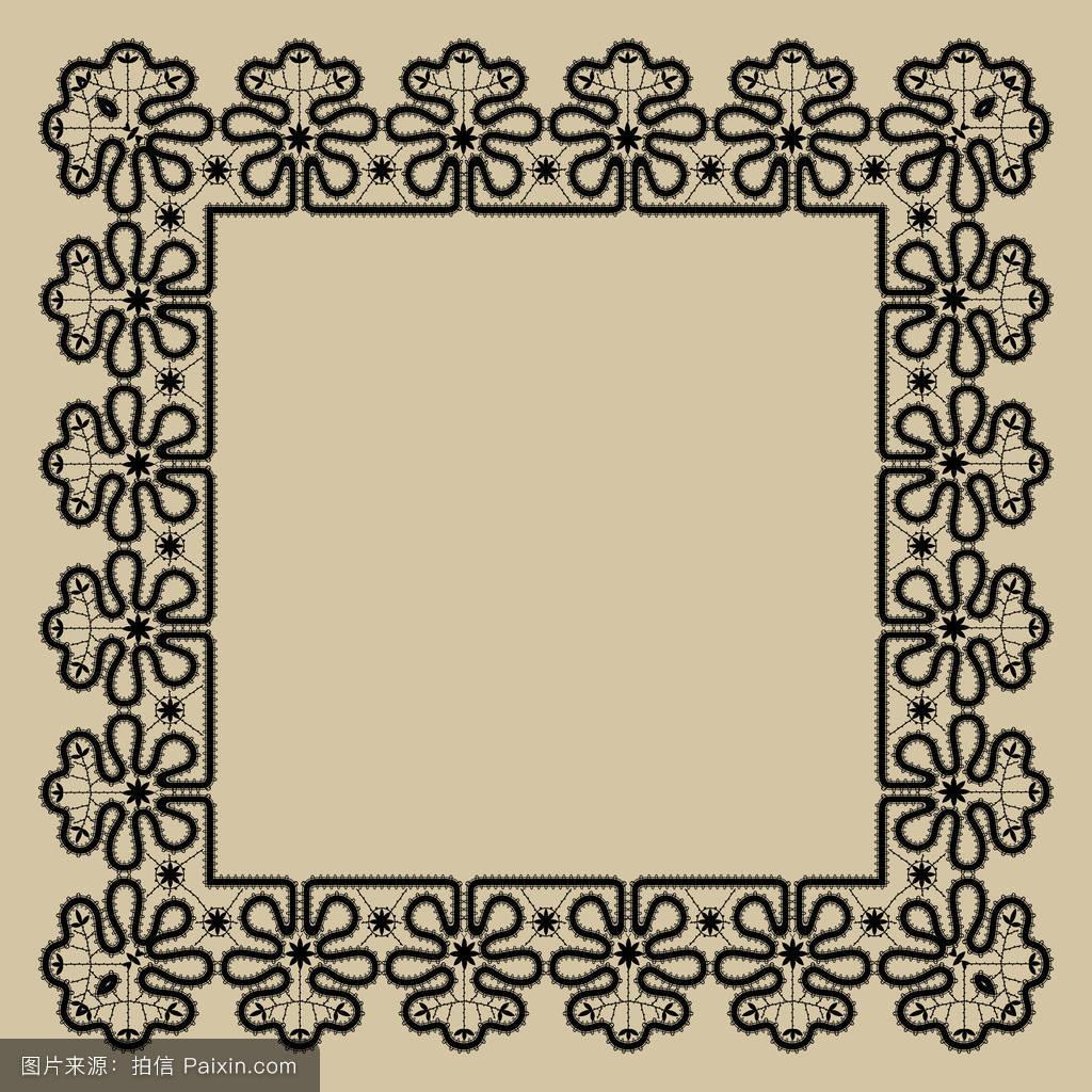 婚礼或贺卡用的花边花边方框图片