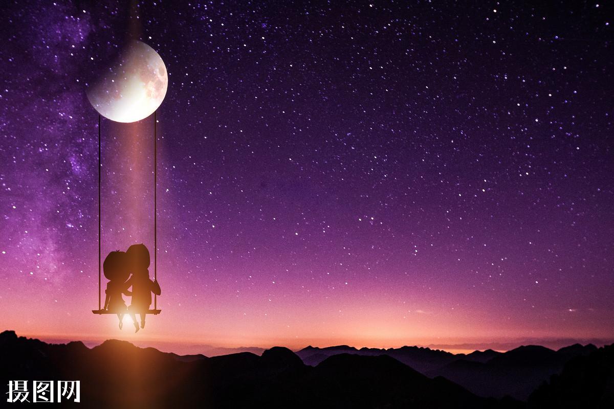 现代,科幻,智慧,灵感,人工智能,情侣,炫酷背景,背景素材,星空,月球图片