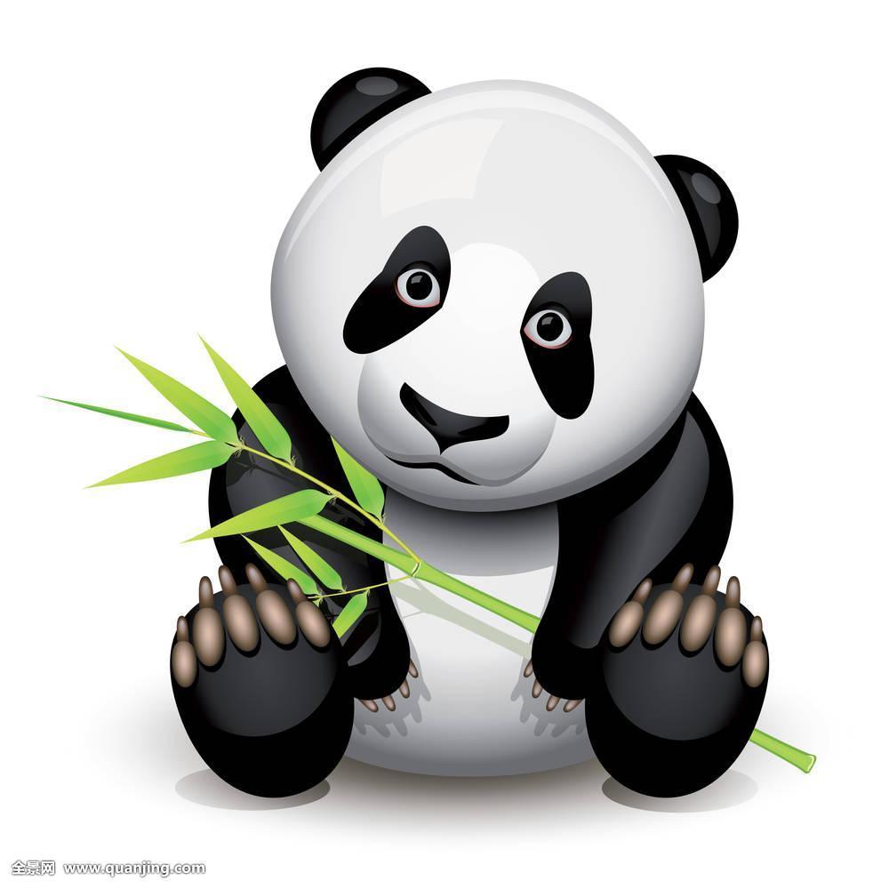 熊猫双手挠头表情包分享展示图片